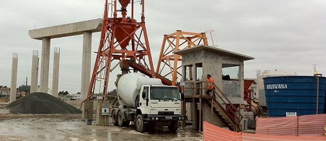 Dimensões da fôrma permitem estimar o número de caminhões betoneira para entrega de concreto