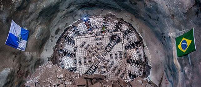 Linha 4 do Metrô do Rio de Janeiro com 92,5% de execução após escavações
